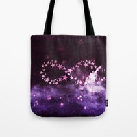 infinity Tote Bags featuring INFINITY by Monika Strigel