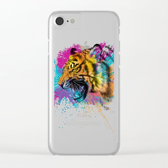 Angry Tiger Clear iPhone Case