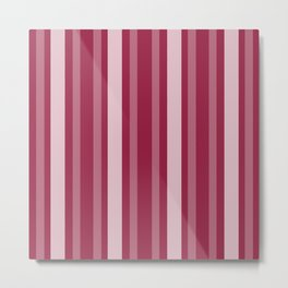 Raspberry Victorian Lady Stripe Metal Print