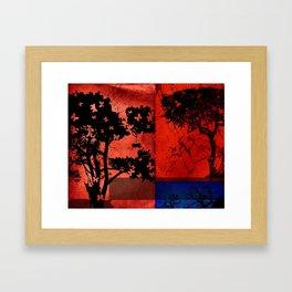 Trees in Red Skies Framed Art Print