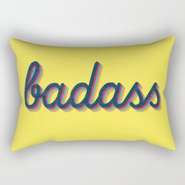Badass - yellow version Rectangular Pillow
