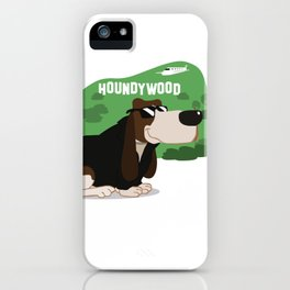 Hollywood Basset Hound iPhone Case