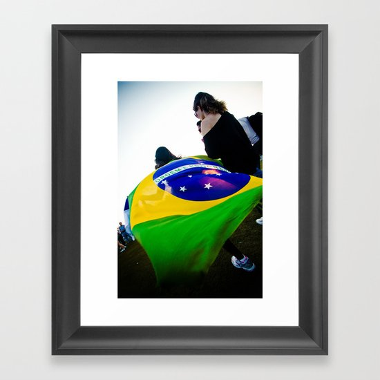 Brazilian Flag Framed Art Print