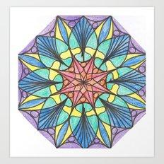 Octagonal mandala Art Print