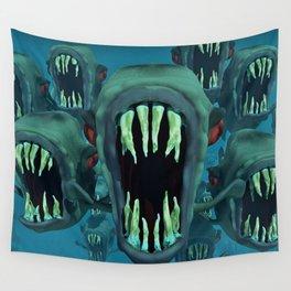 Piranhas Underwater Fish Wall Tapestry