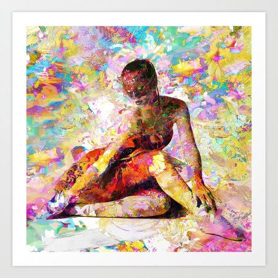 Ballerina In Repose Art Print