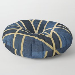 Art Deco Midnight Floor Pillow