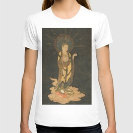 Welcoming Descent of Jizo 13th Century Japanese Scroll T-shirt