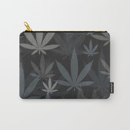 Marijuana Cannabis Weed Pot Grey Tones Carry-All Pouch