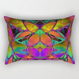 Floral Fractal Art G306 Rectangular Pillow