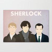 sherlock Canvas Prints featuring Sherlock by Bantam