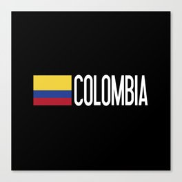 Colombia: Colombian Flag & Colombia Canvas Print