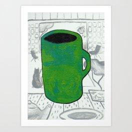 Jade Cup Art Print