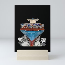 Container Ship Mini Art Print