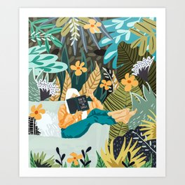 How To Live In The Jungle #illustration #painting Art Print