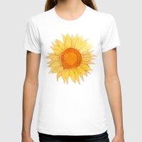 sunflowers T-shirts featuring Sunflowers by Sara Eshak
