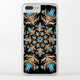 Turkish tulip - Ottoman tile 4 Clear iPhone Case