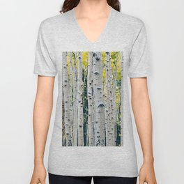Aspen Forest Tree Bark Unisex V-Neck