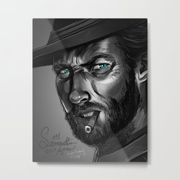 Clint Eastwood Fan Art Metal Print
