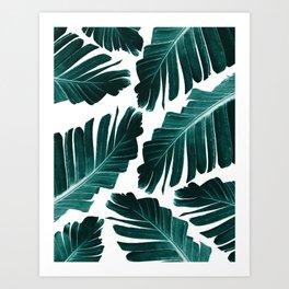 Tropical Banana Leaves Dream #1 #foliage #decor #art #society6 Art Print