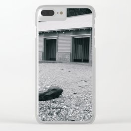 Beach Changing Sheds Clear iPhone Case