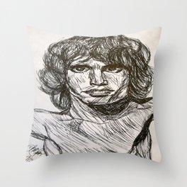 The Lizard King Throw Pillow