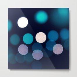 Abstract city lights Metal Print