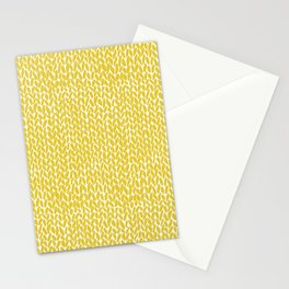 Hand Knit Yellow Stationery Cards