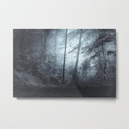 Blue Mystic ForesT Metal Print