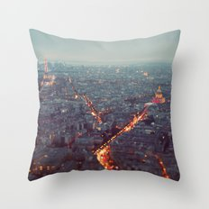 Blue Hour in Paris. Throw Pillow
