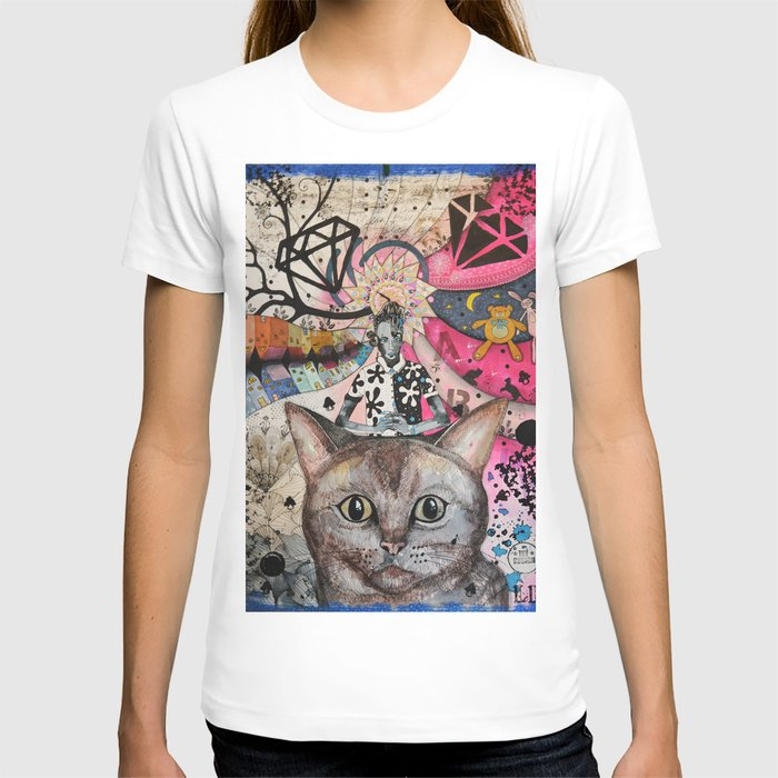 """Cat"" illustration T-shirt"