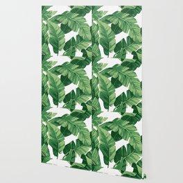 Tropical banana leaves IV Wallpaper