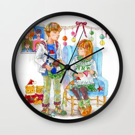 Pop Kids at Christmas Time vol.2 Wall Clock