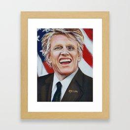 Gary Busey For President Framed Art Print