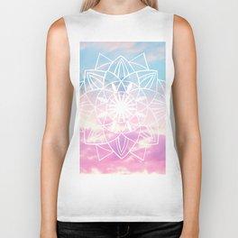 Star Mandala Unicorn Pastel Clouds #3 #decor #art #society6 Biker Tank