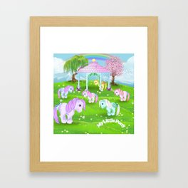 g1 my little pony stylized Collector ponies Framed Art Print