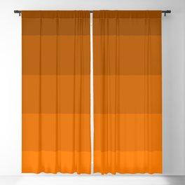 Orange Brown Stripes Blackout Curtain