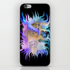 Woman Horse and Butterfly iPhone & iPod Skin