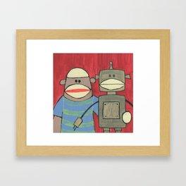 Sock Monkey 221 Framed Art Print