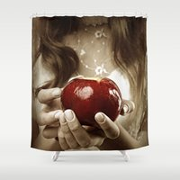 fairy tale Shower Curtains featuring Fairy Tale by Judy Hung