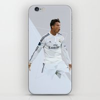 ronaldo iPhone & iPod Skins featuring Ronaldo 7 by Icon11