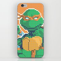 teenage mutant ninja turtles iPhone & iPod Skins featuring Teenage Mutant Ninja Turtles - Michelangelo by James Brunner