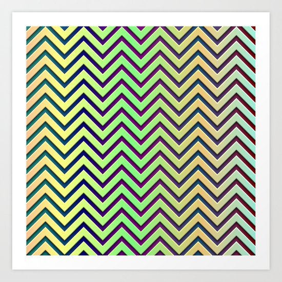 chevrons with contrasting background Art Print