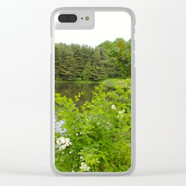 Wild Flowers on the lake Clear iPhone Case