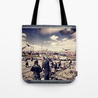 istanbul Tote Bags featuring Istanbul by Anto Bozzini