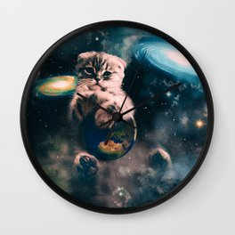 Space Puss saves the World Wall Clock