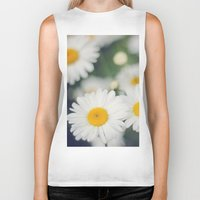 daisies Biker Tanks featuring Daisies by Beata Heart
