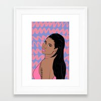 nicki Framed Art Prints featuring nicki by Britt Flaming