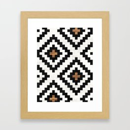 Urban Tribal Pattern No.16 - Aztec - Concrete and Wood Framed Art Print