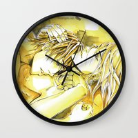 yaoi Wall Clocks featuring Close to you by Fireangels